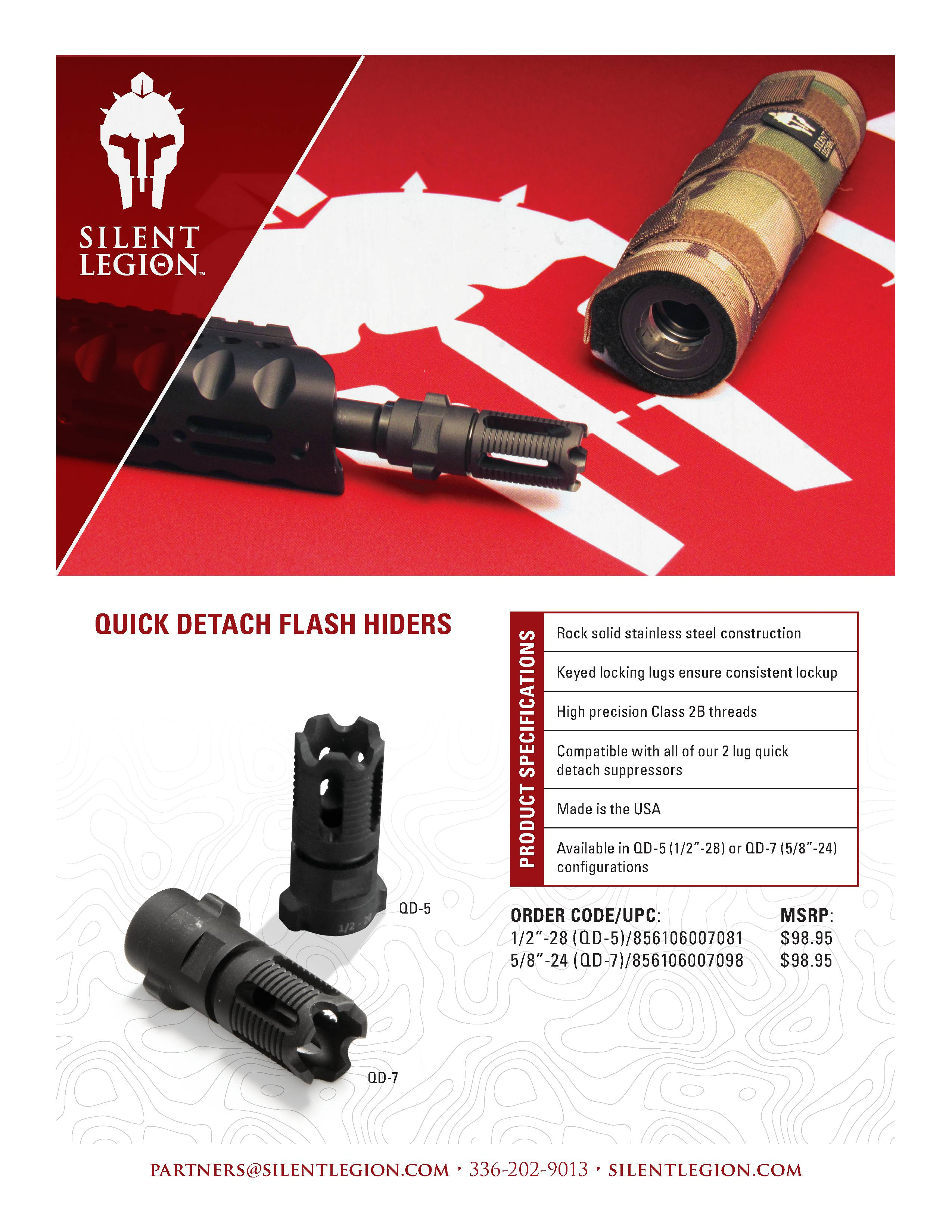QUICK DETACH FLASH HIDERS
